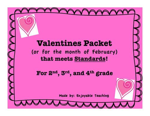 Valentines Packet (or for the month of February) that meets Standards!