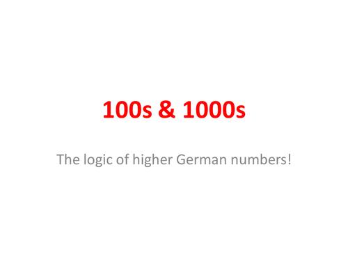 100s & 1000s in German