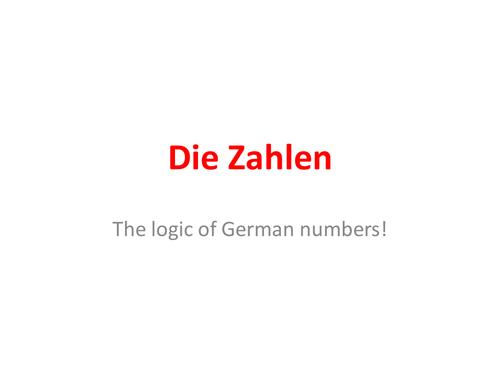 German numbers above 20