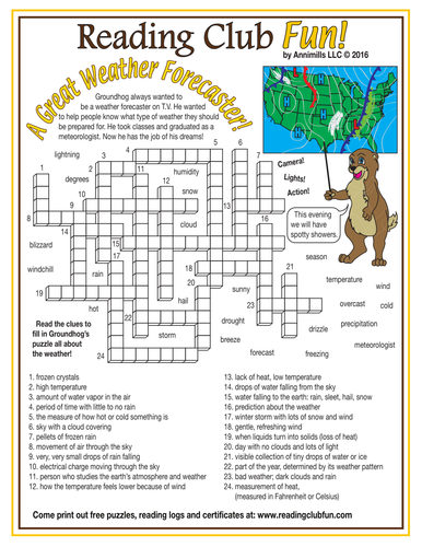 Groundhog day and weather crossword puzzle by puzzlefun teaching groundhog day and weather crossword puzzle by puzzlefun teaching resources tes ibookread Read Online