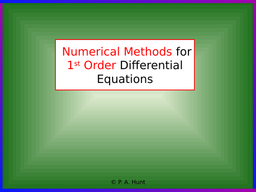 Numerical Methods for 1st Order Differential Equations (A-Level Further Maths)