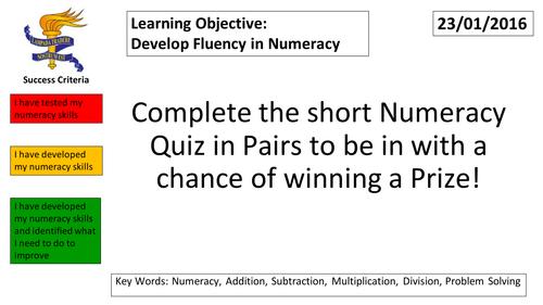 Numeracy Quiz