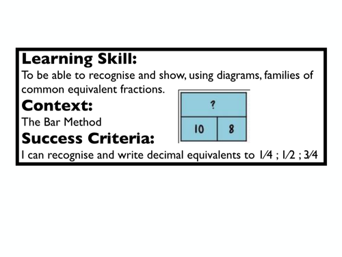 FRACTIONS OF NUMBER USING THE BAR MODEL