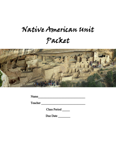 Native American Unit Complete Packet