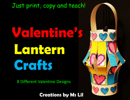 Valentine Lantern Craft  ::  Valentine's Day Activities  ::  Fine Motor skills