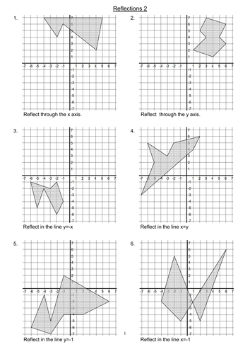 Drawing Reflections on a Graph 2