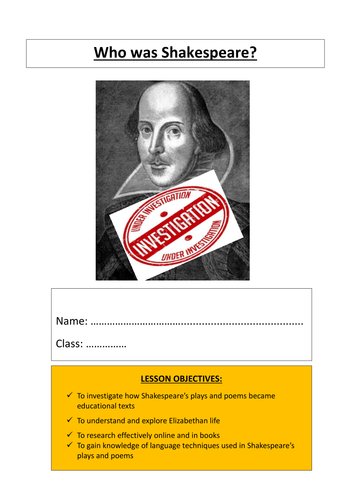 Shakespeare Research Booklet