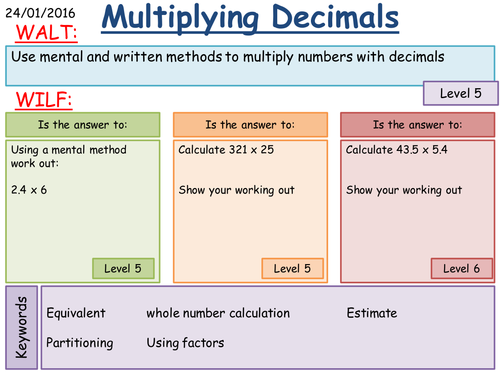 KS3 Multiplying and Dividing Decimals Mental Written and – Multiplying Decimal Numbers Worksheet