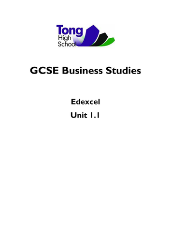 COMPLETE RESOURCE GCSE BUSINESS EDXECEL 1.1 REVISION GUIDE AND WORKBOOK