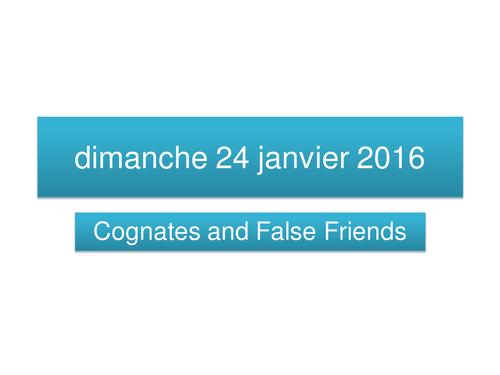 Cognates and False Friends