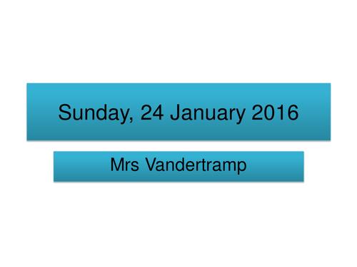 Mrs Vandertramp
