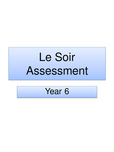 Le Soir Assessment