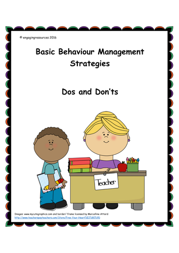 Elementary Classroom Management Techniques ~ Behaviour management strategies for the classroom by
