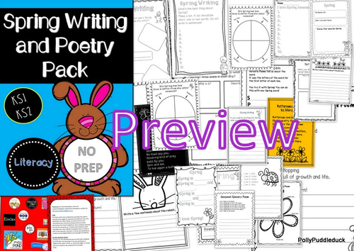 spring writing and poetry pack ks1 ks2 by pollypuddleduck teaching resources. Black Bedroom Furniture Sets. Home Design Ideas