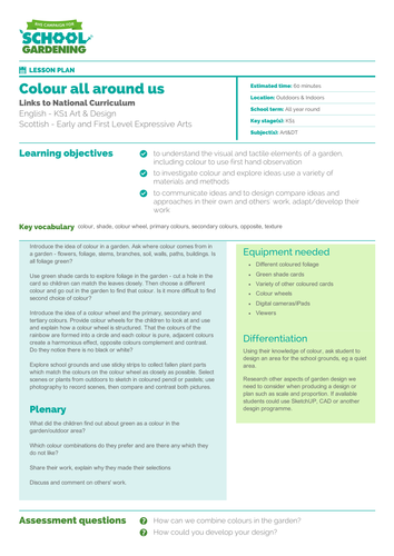 Colour All Around Us Lesson Plan