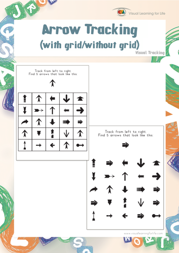Arrow Tracking By Visuallearningforlife Teaching Resources Tes