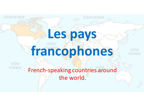 French-speaking countries by kross | Teaching Resources