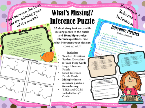 """""""Whats Missing"""" Inference Puzzle Station"""