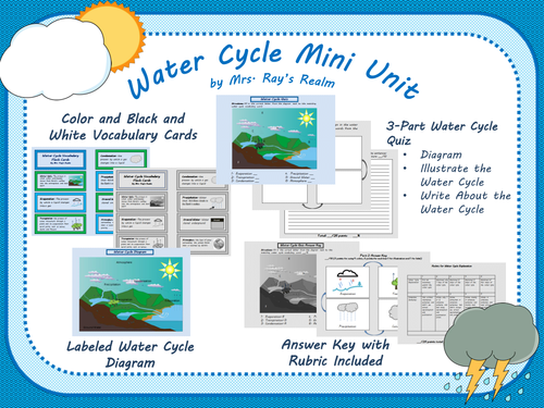 Waterweather Cycle Mini Unit By Mrsraysrealm Teaching Resources Tes