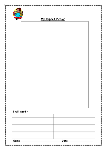 A design template for a puppet