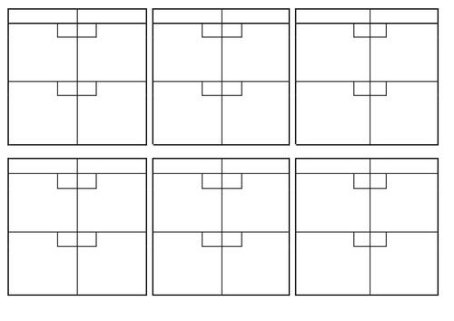 Netball Score Card Templates (Halves)