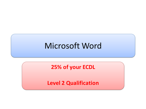 ECDL Word Processing Intensive Revision