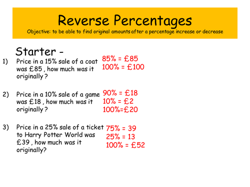 Percentages And Reverse Percentages 6448821 on Area Of A Triangle Formula Examples Pictures And Practice