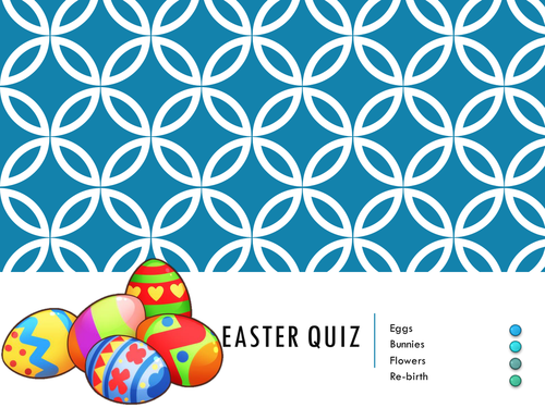 Updated Easter Quiz with three rounds including the Easter Story. Intended for fun.