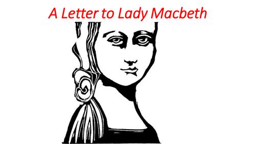 Descriptive Writing-A letter to Lady Macbeth