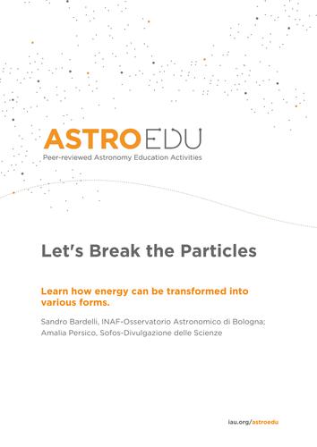 Let's Break the Particles