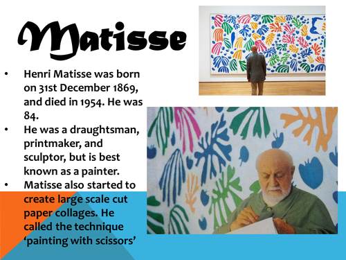 Henri Matisse - Cut Outs - Lesson