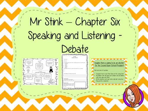 Speaking and Listening  – Mr Stink