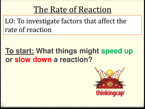 Investigation skills - Rates of Reaction with Rhubarb