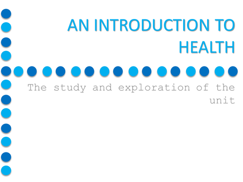 A-Level Geography- Health Resource Pack