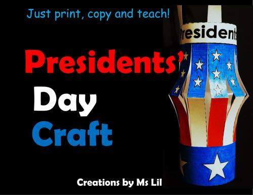 Presidents ::  Presidents Day Craft  ::  Presidents Day Activity