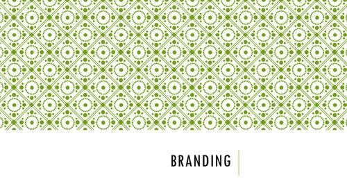 Promoting a brand (Branding)