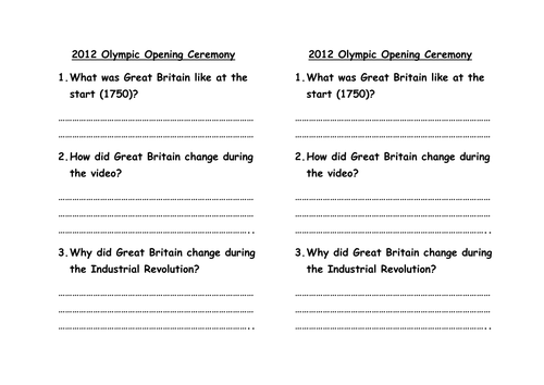 Introduction to the Industrial Revolution by danielsherriff – Industrial Revolution Worksheets