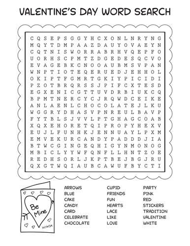 Valentine's Day Word Search **Freebie**