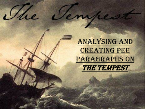 The Tempest - PEE preparation lessons