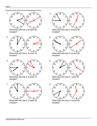 Teaching Resources 100 worksheets Time Passages KS2 Maths