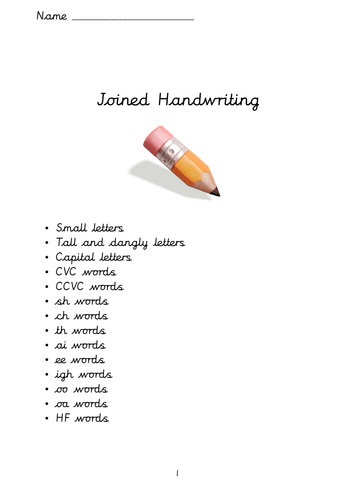 Handwriting booklet - Cursive writing - New Curriculum