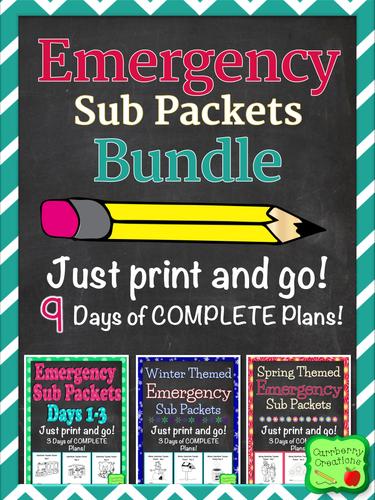 Emergency Sub Packets Bundle