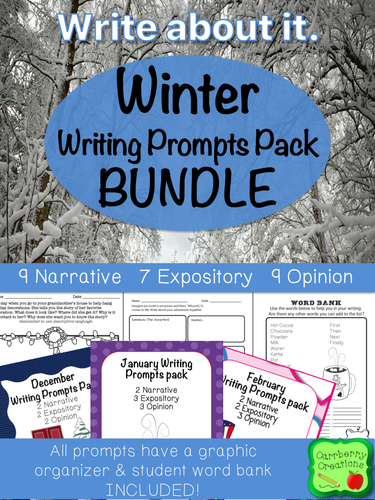 Winter Writing Prompts Pack