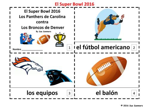 Super Bowl 2016 - 2 Booklets in Spanish - Futbol Americano