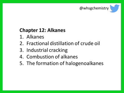 New (2016) AQA Chemistry A Level: Part 12 - Alkanes