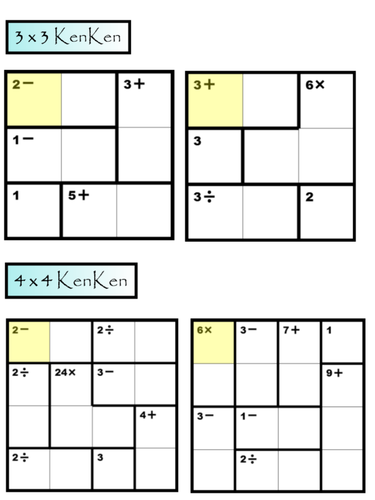 Fabulous image throughout kenken puzzles printable