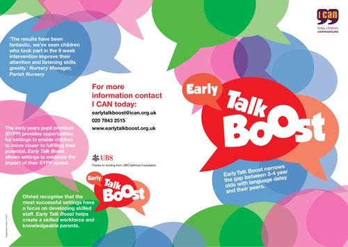 Early Talk Boost flyer