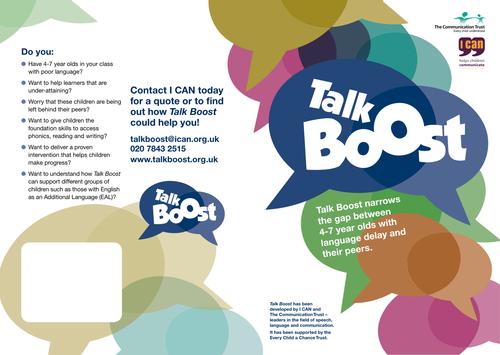 Talk Boost KS1 Flyer