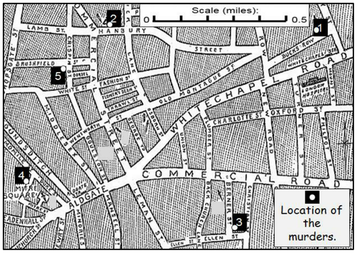 Jack the Ripper Victims Numeracy Tasks