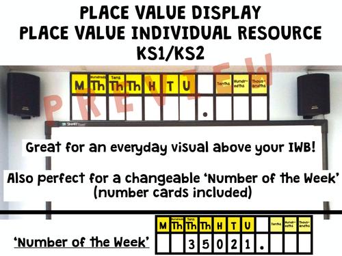 PLACE VALUE DISPLAY KS1/KS2